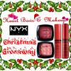 Heart Bows & Makeup Christmas Giveaway- Win Fabulous NYX Goodies! 2 Winners!