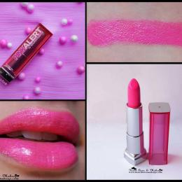 Maybelline Pink Alert Lipstick POW 3 Review & Swatches