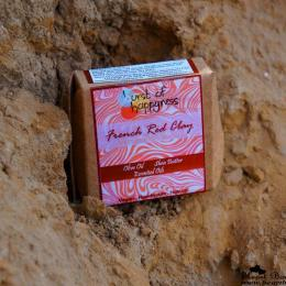 Burst Of Happyness French Red Clay Soap Review: A Great Product For Tan Removal!