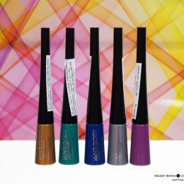 Maybelline Hyper Glossy Electrics Eyeliner Swatches & Price