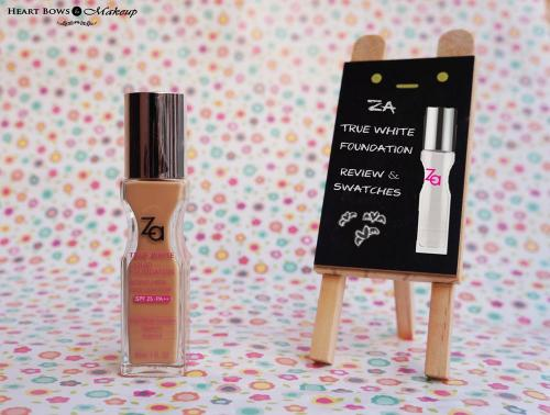 ZA True White Liquid Foundation Review, Swatches & Price India