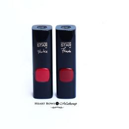 L'Oreal Paris Collection Star Red Pure Scarleto & Pure Rouge Lipstick Review & Swatches