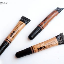 L.A. Girl PRO Conceal HD Concealer Review & Swatches: Pure Beige, Medium Beige & Chestnut