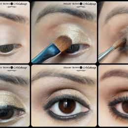 Gold Smokey Eye Makeup Tutorial: Diwali Special!