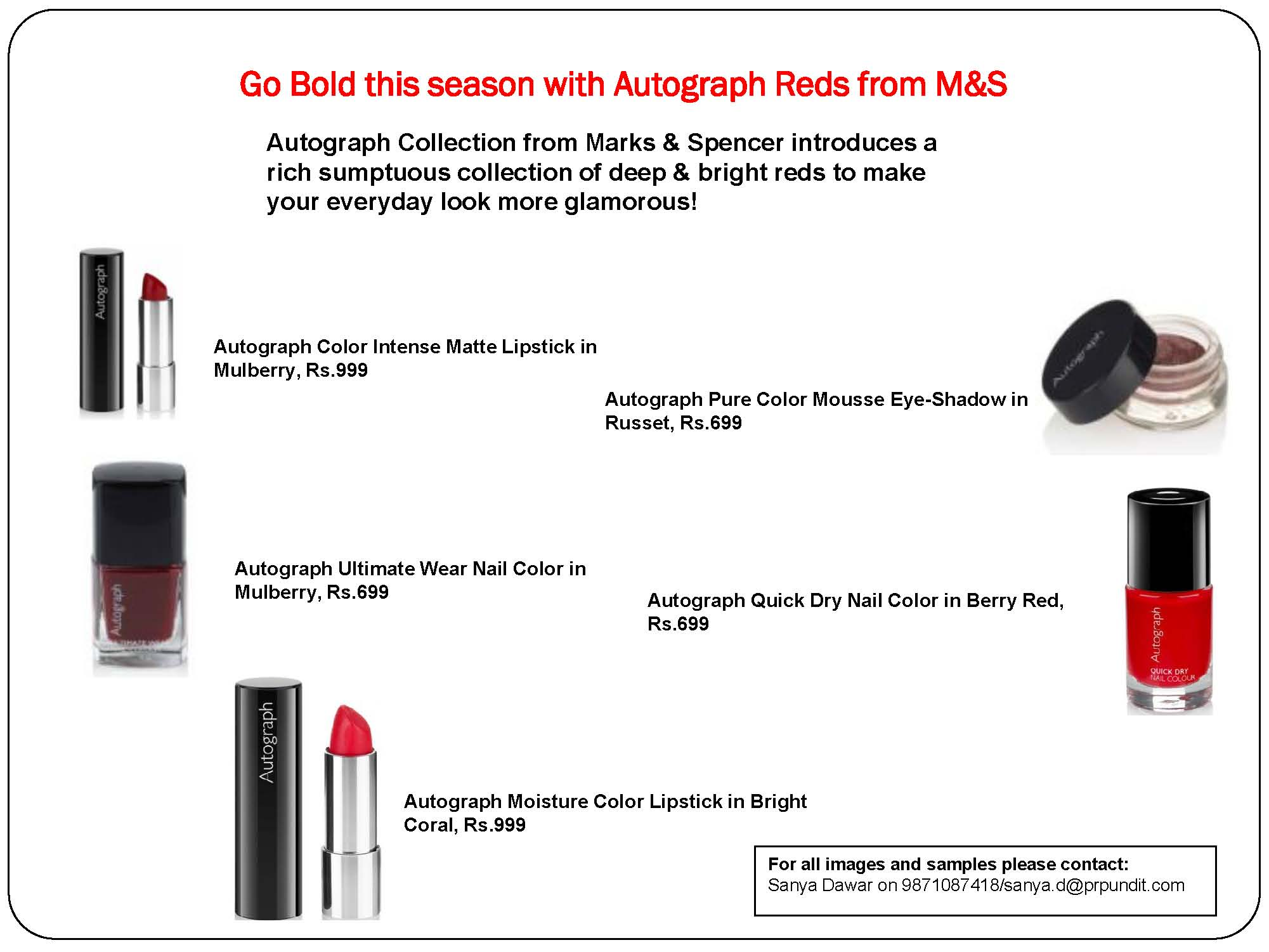 Autograph Reds from Marks & Spencer