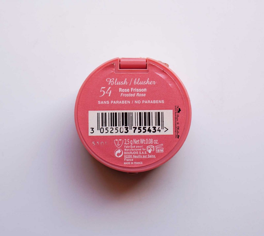 Bourjois Rose Frisson Blush Review and swatches