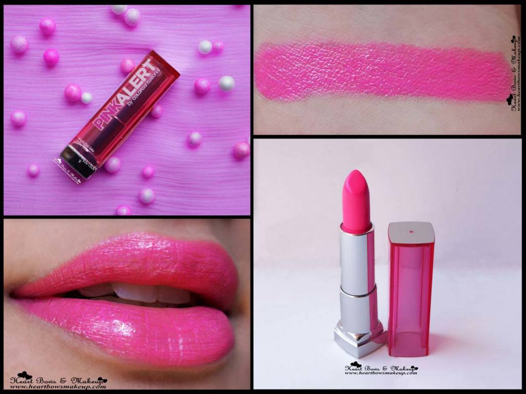 maybelline pink alert lipstick pow 3 review swatch price india