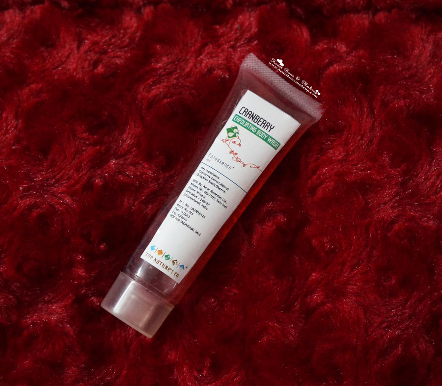 The Nature's Co Cranberry Exfoliating Body Wash review price india