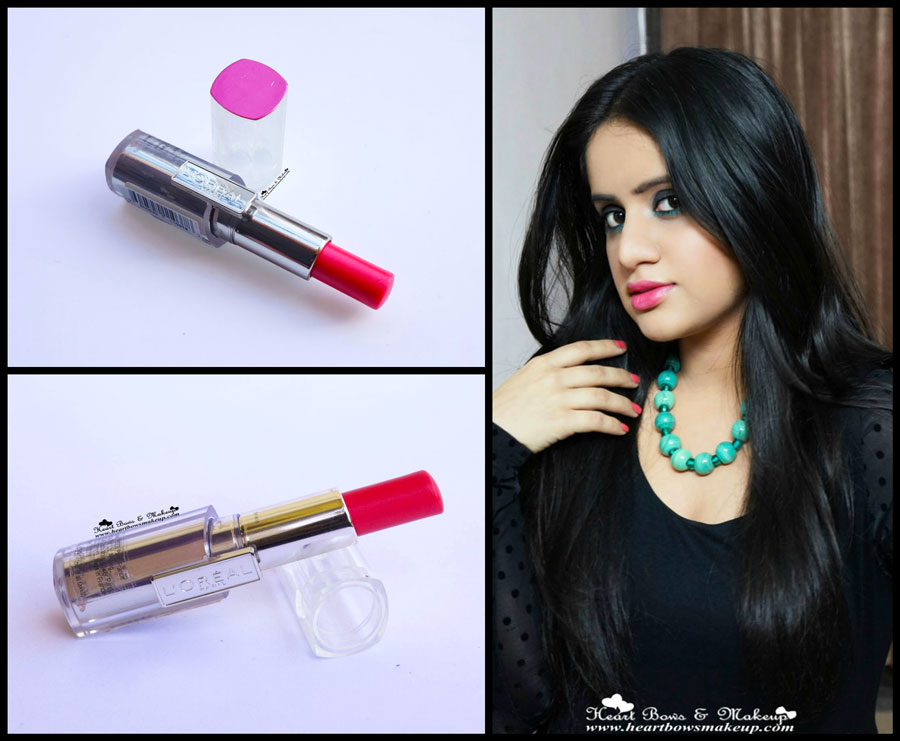 loreal rouge caresse lipstick aphrodite scarlet review swatches price india