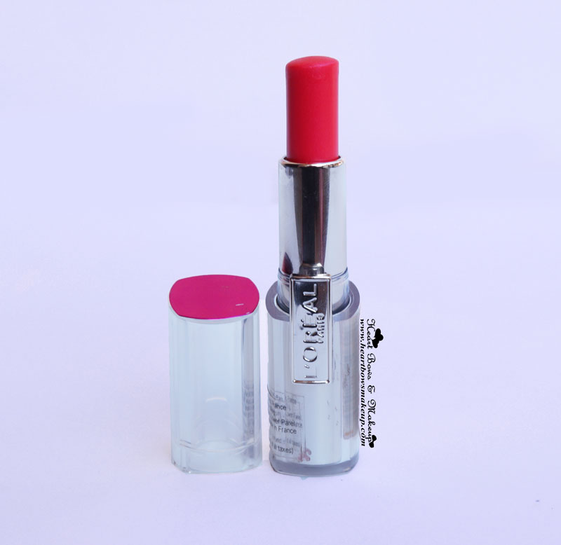 Loreal Rouge Caresse Aphrodite Scarlet Lipstick Review Swatches