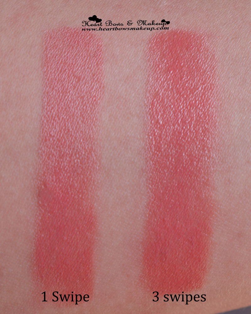 Loreal Rouge Caresse Lipstick Dating Coral Swatches