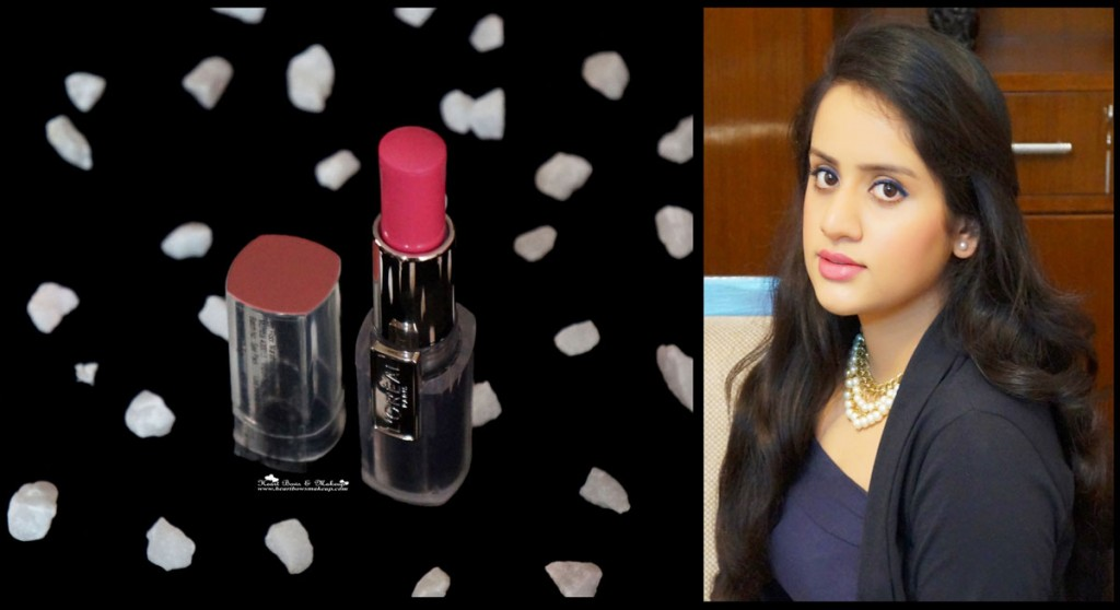 loreal rouge caresse lipstick rose mademoiselle review swatches price india