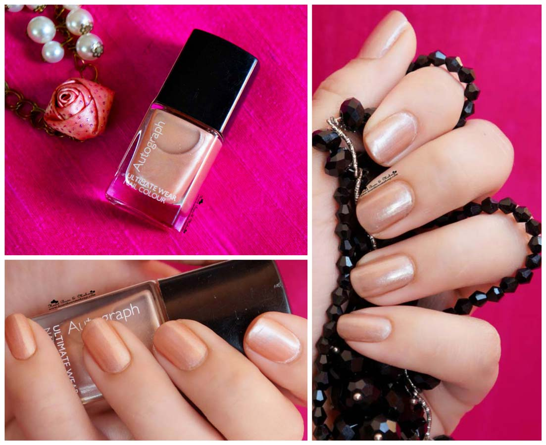... Spencer Autograph Nail Polish Champagne Review, Swatches & Price India