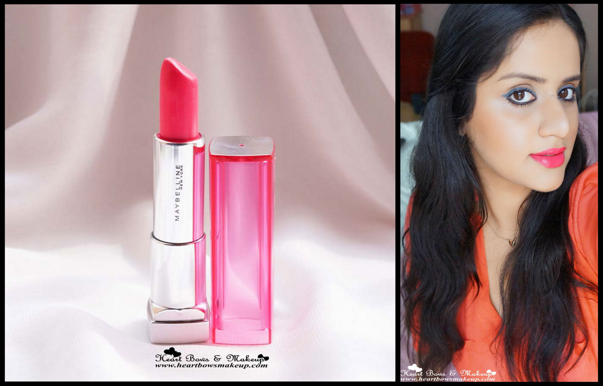 Maybelline Pink Alert Lipstick POW 4 Review- The Best Coral ...