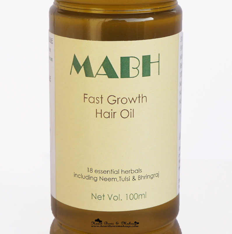 MABH Fast growth Hair Oil - The Best natural & Ayurvedic Hair Oil