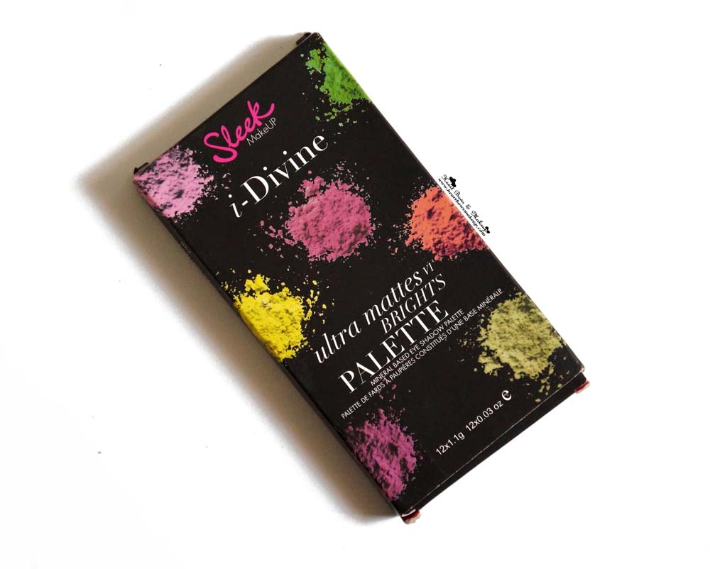 Sleek I Divine Ultra Mattes V1 Brights Eyeshadow Palette Review & Swatches