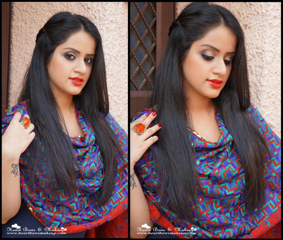 Indian Wedding/ Party Makeup Tutorial With Maybelline InstaGlam Wedding Box - Heart Bows U0026 Makeup