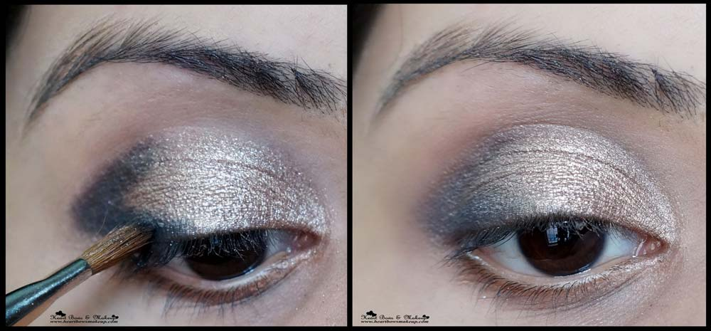 Shiny eye makeup