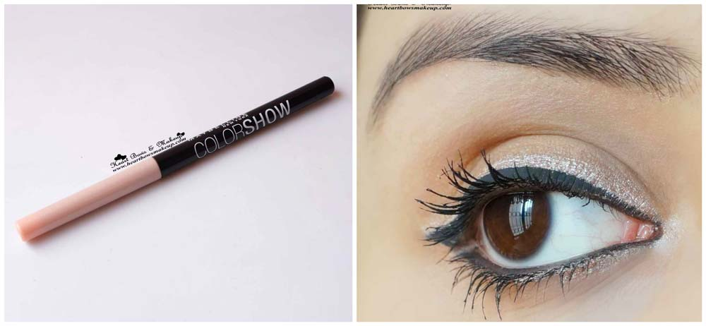 Maybelline InstaGlam Box' Wedding Edition' Maybelline Color Show Eye Liner 04 Shiny Beige Review & Swatch