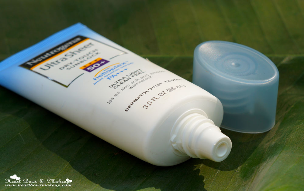 Neutrogena Ultra Sheer Dry Touch Sunblock SPF 50+ Review & Price India