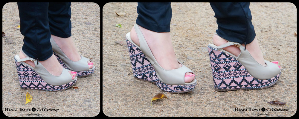 Indian Fashion & Beauty Blog: High Aztec Print Wedges