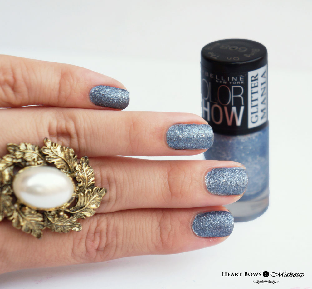 Maybelline Colorshow Glitter Mania Bling On The Blue Review & Swatches