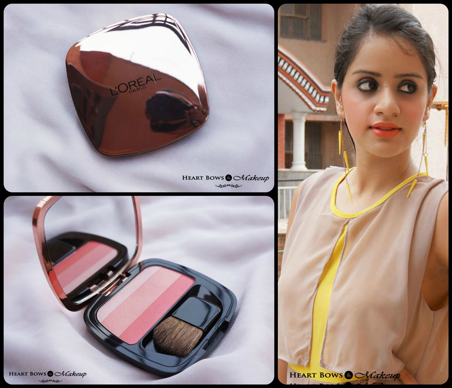 L'Oreal Lucent Magique Blush Of Light Glow Palette 03 Blushing Kiss Review, Swatches & Price India
