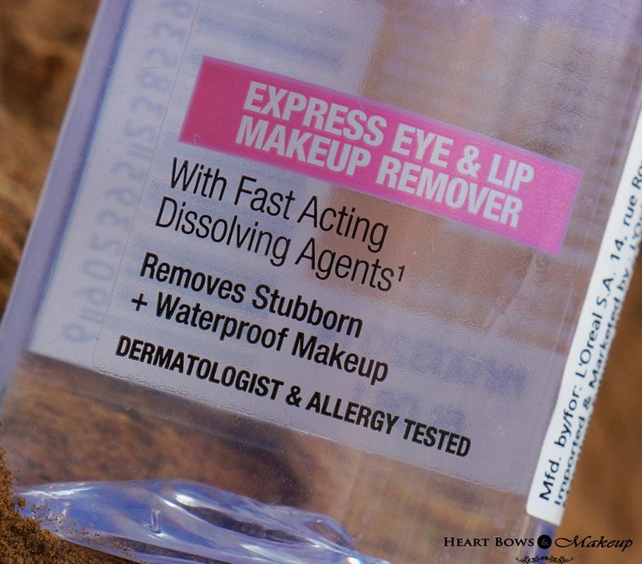 Maybelline Clean Express Waterproof Eye & Lip Makeup Remover Review, Price India