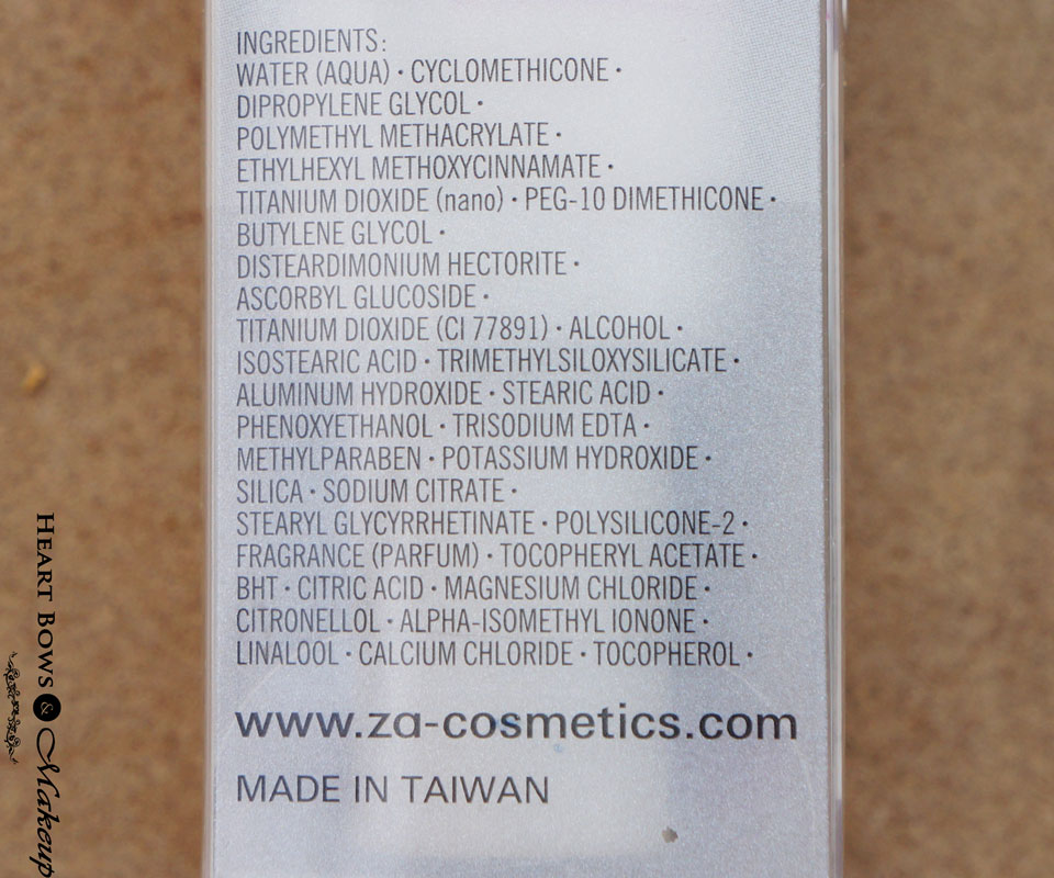 ZA True White Day Protector SPF 26 Ingredients & Review