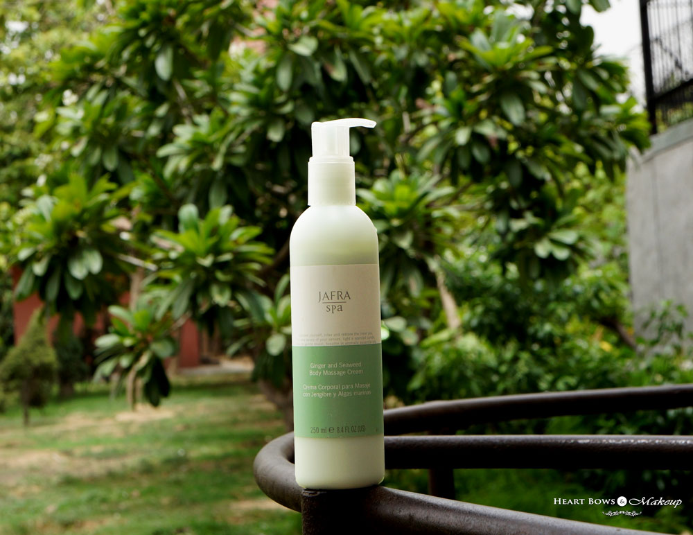 Jafra Ginger & Seaweed Body Massage Cream Review & Price India: Best Body Lotion in India