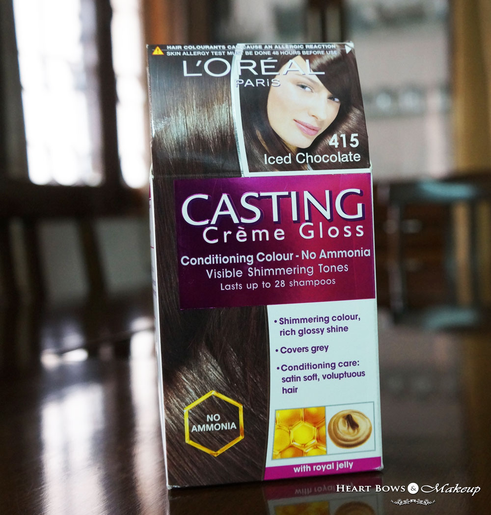 How To Colour Hair At Home/Tutorial: L'Oreal Casting Creme Gloss Iced Chocolate Review