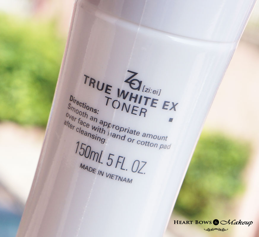 ZA True White Toner Review India