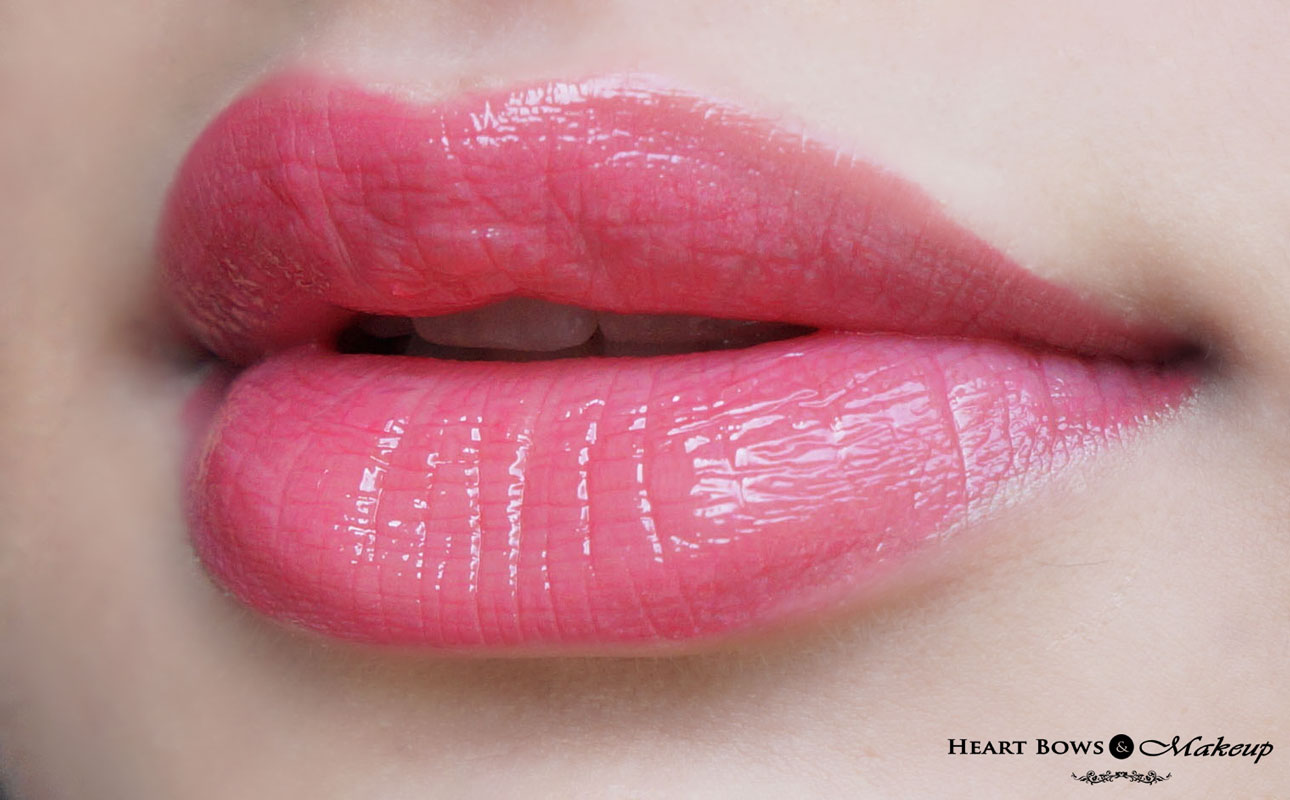 =elf Glossy Lipgloss Wild Watermelon Lip Swatch, LOTD & Review