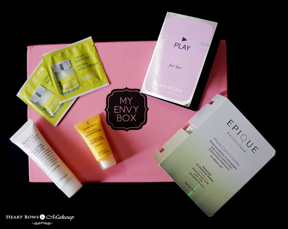 August My Envy Box Review, Samples & Price