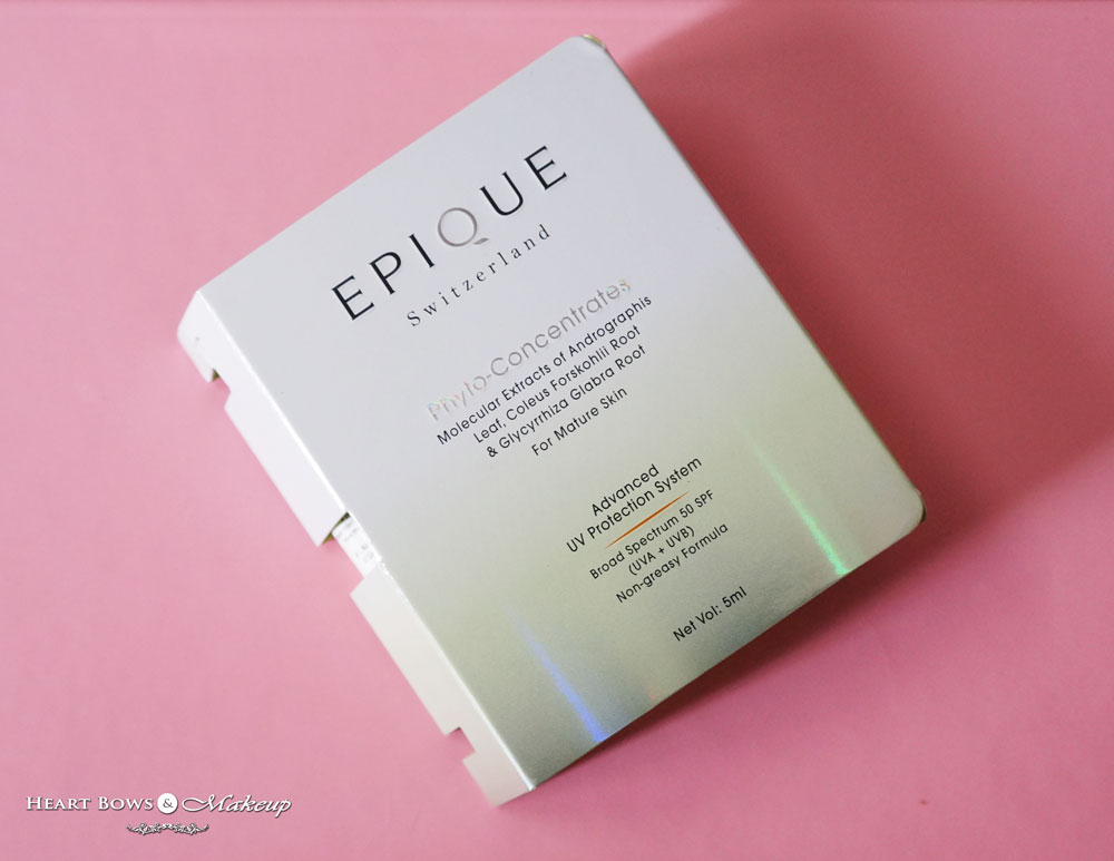 My Envy Box August Samples: Epique Advanced UV Protection System