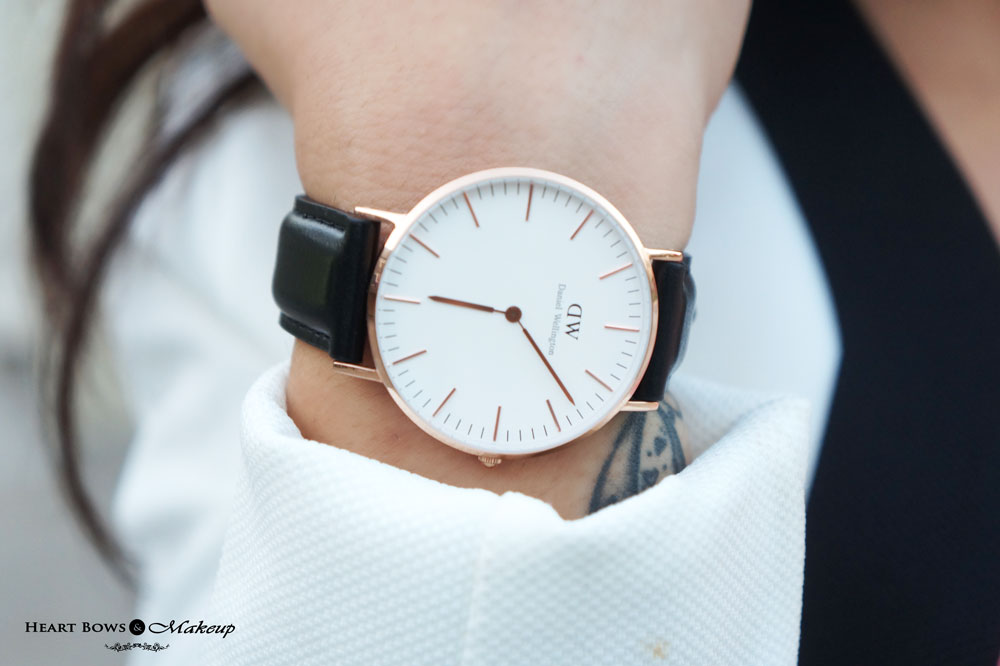 Daniel Wellington Classic Bristol Lady Watch With Rose Gold Dial