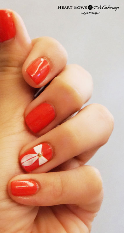 OPI Bow Nail Art at Korum Salon , Delhi