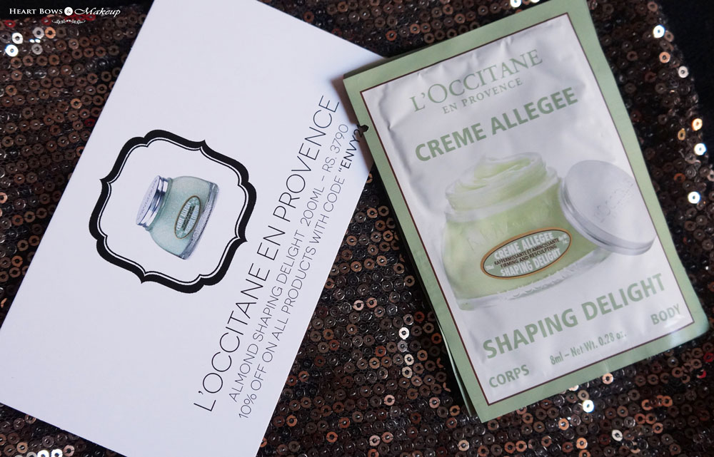 My Envy Box September Samples: L'Occitane Almond Shaping Delight