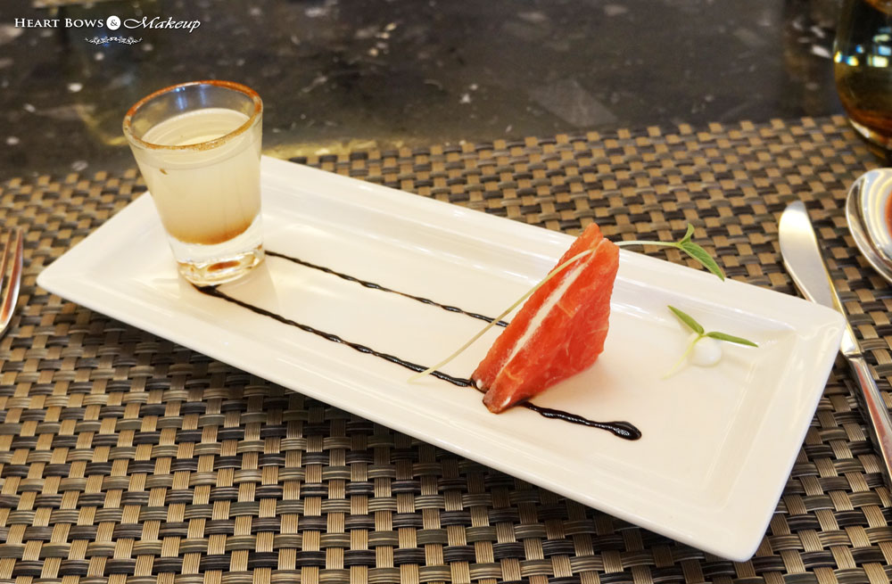 Ssence Restaurant, The Suryaa Hotel Review: Lychee Drink With Watermelon Wedges