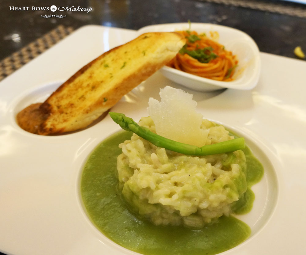 Ssence Restaurant Review: Asparagus Risotto & Pasta Napolitana