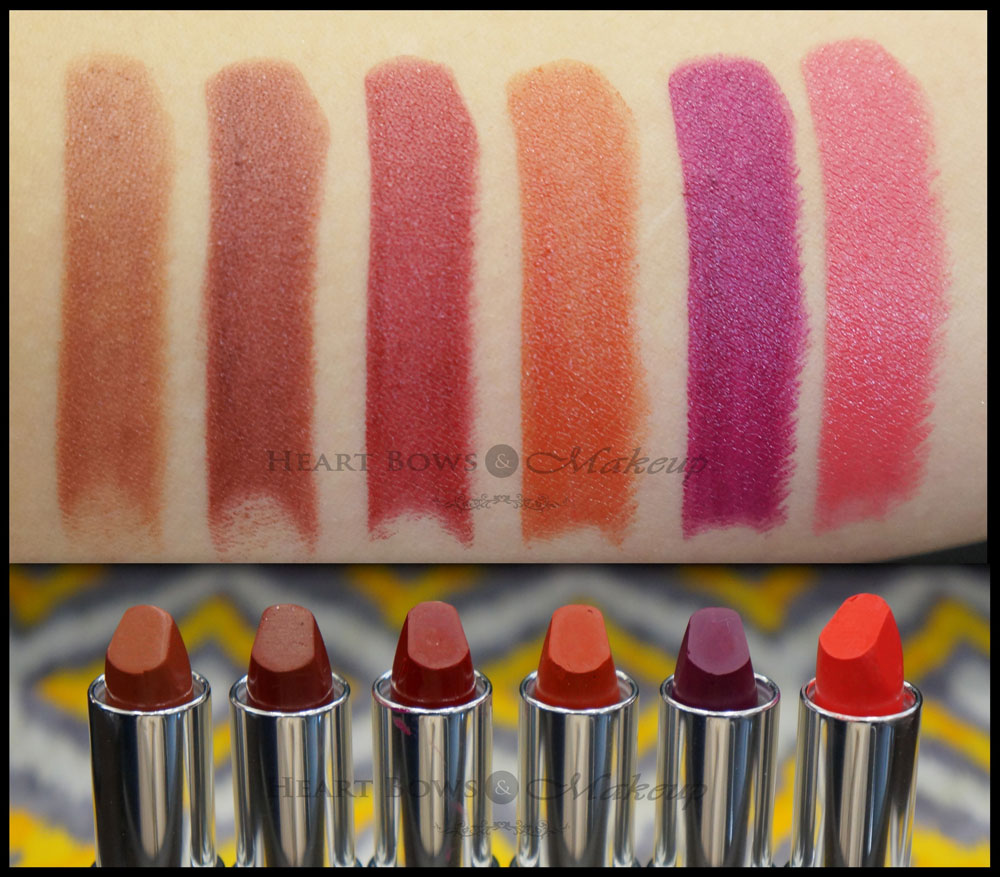 Colorbar Darkened Summer Lipstick Review, Swatches & Shades: Brown Rush, Earthy Brown, Legendary, Celebrity, Wild Mauve, Peach Life