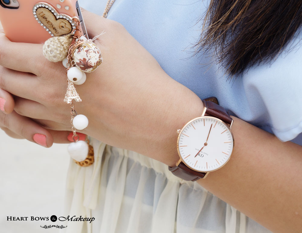 Delhi Beauty & Fashion Blog: Daniel Wellington Classic St Andrews Watch & Girly Iphone Cover