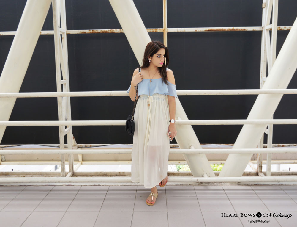 Indian Fashion Blog- OOTD feat Sammydress Maxi Dress, Daniel Wellington St Andrews Watch & Zotiqq Accessories