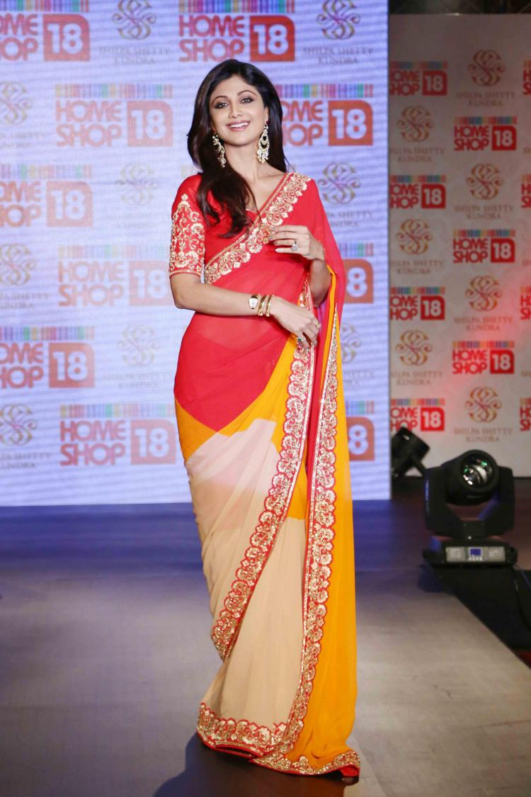 HomeShop18 launches Shilpa Shetty Kundra Range Of Sarees ...