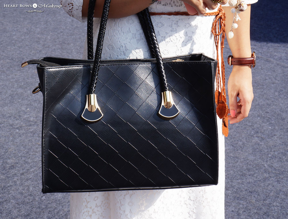 Indian Lifestyle Blog: Classy Black Leather Tote