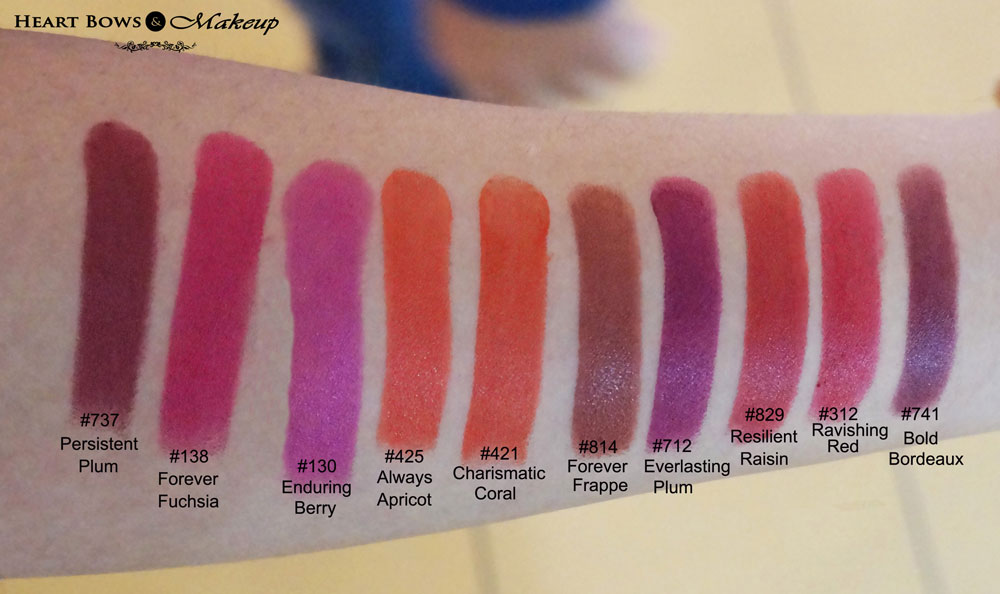 New L'Oreal Infallible Lipstick Swatches & Shades - Heart Bows ...