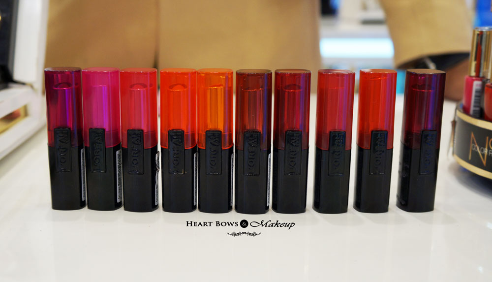 New L'Oreal Infallible Lipstick Swatches, Review & Price India