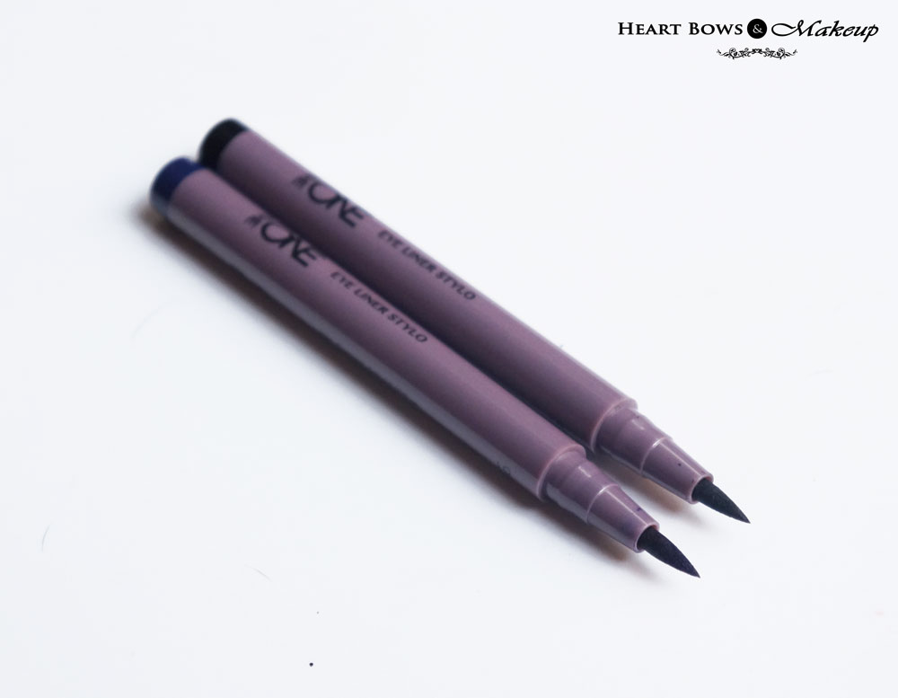 Oriflame The ONE Eye Liner Stylo Black & Blue Review & Swatches