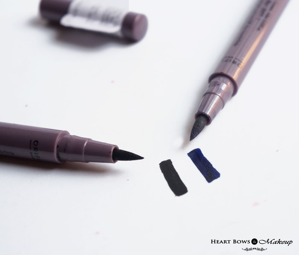 Oriflame The ONE Eyeliner Stylo Black & Blue Review, Swatches