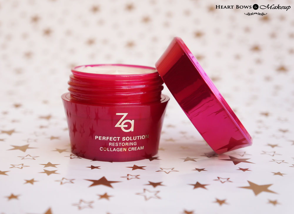 ZA Perfect Solution Restoring Collagen Night Cream Review & Price India